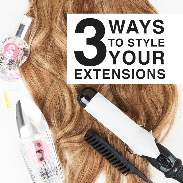 three ways to style your hair extensions