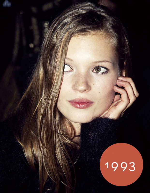 moss kate hair 1993 young brown blonde 90s katemoss richie extensions dirtylooks