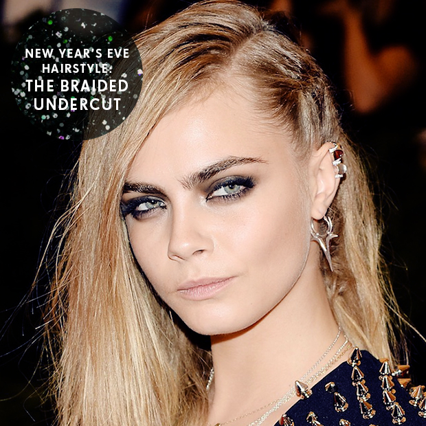 New Year's Eve Hairstyle: The Braided Undercut