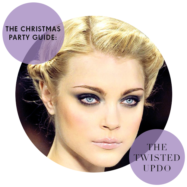 Christmas Party Hair Guide: The Twisted Updo