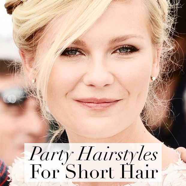 Hairstyles For Short Unwashed Hair : Day 19: Party Hairstyles for Short Hair / Hair Extensions Blog Hair ...
