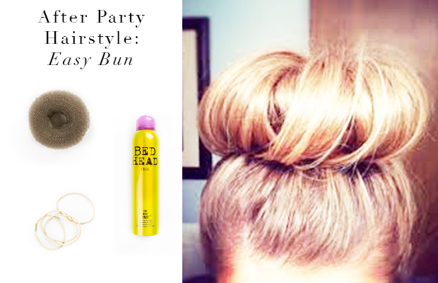 After Party Hairstyle The Easy Bun Hair Extensions Blog Hair