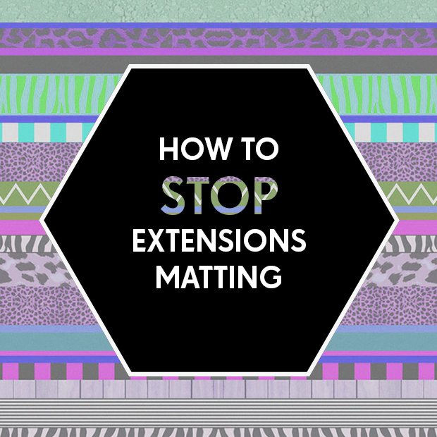 How to Stop Hair Extensions Matting