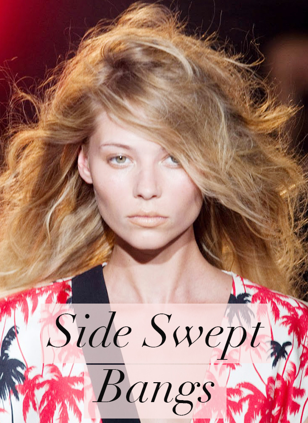 side swept bangs- hair trends for 2014