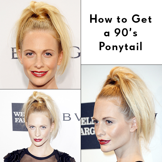 How to Get a '90s Ponytail