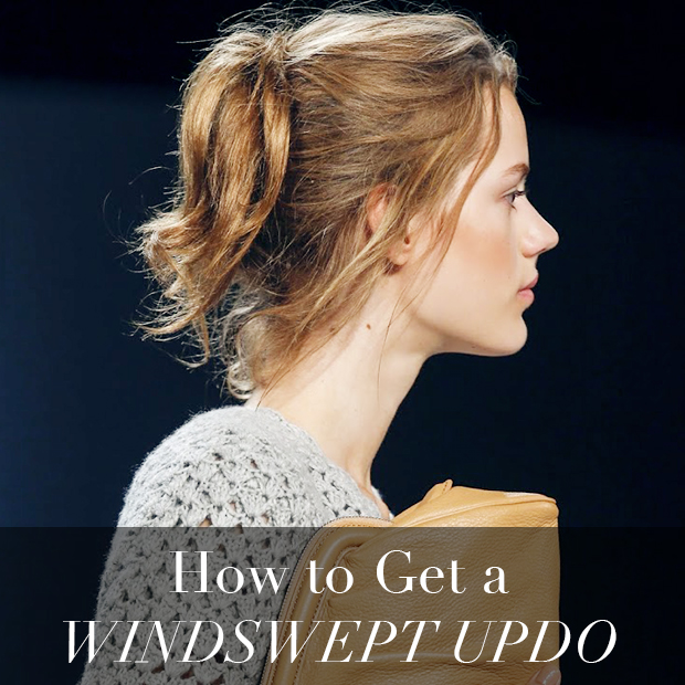 How to get a windswept updo