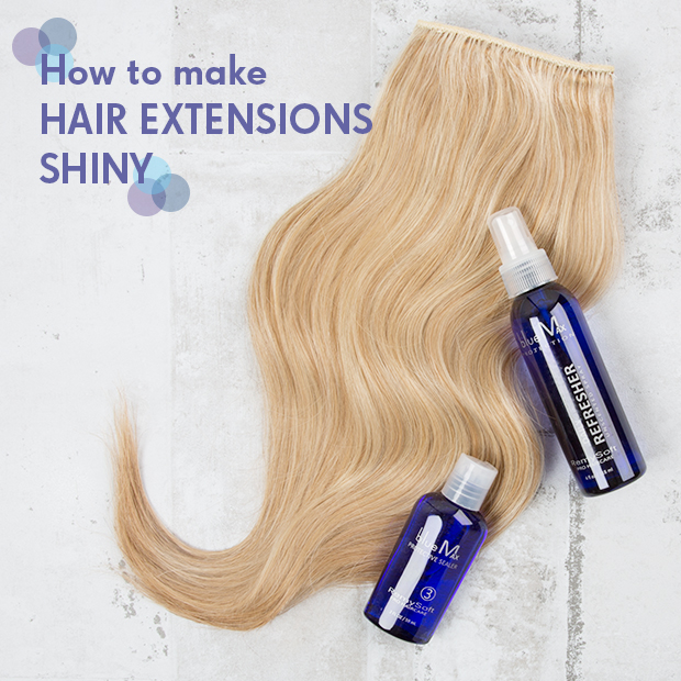 How to Make Hair Extensions Shiny
