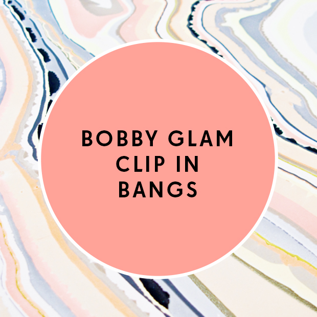 Bobby Glam Clip In Bangs
