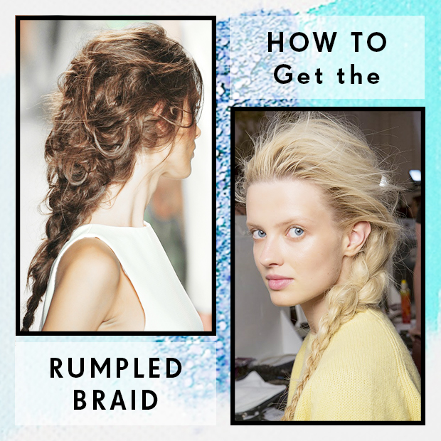 How to get the rumpled braid