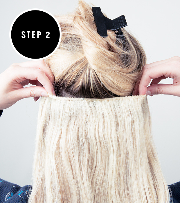 Step Two How To Apply Clip In Hair Extensions