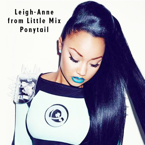 Leigh-Anne from Little Mix Ponytail