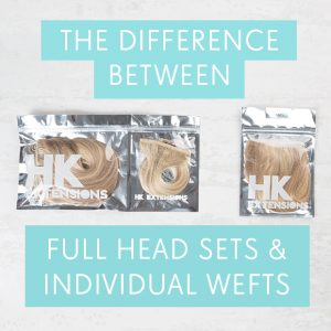 The Differences Between Full Head Sets and Individual Wefts