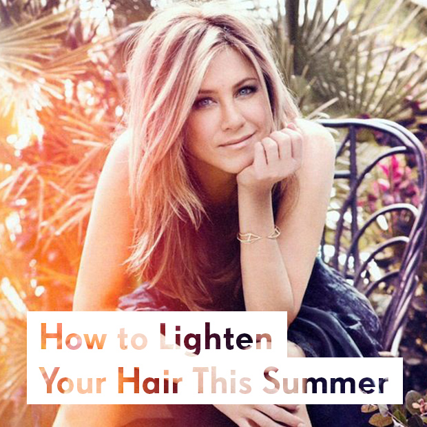 how to lighten your hair this summer