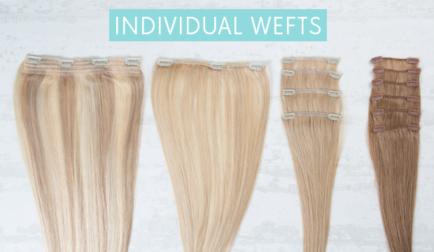 The difference between full head sets and individual wefts