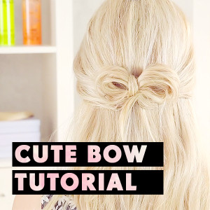 Half-Up Hair Bow Tutorial