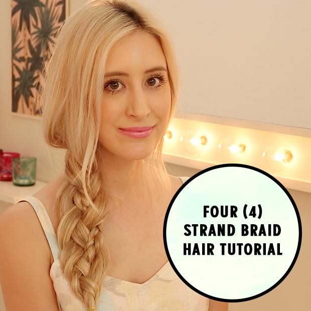 Four Strand Braid Hair Tutorial Hair Extensions Blog Hair