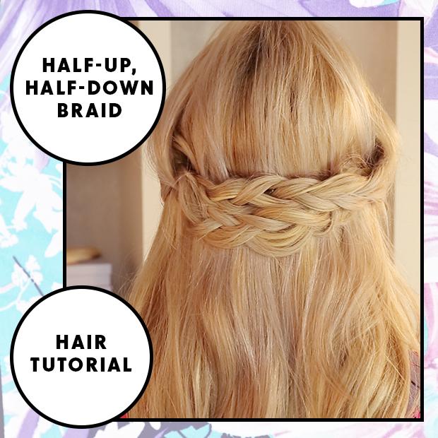 Half Up, Half Down Braid Hair Tutorial