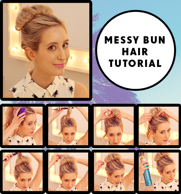 Messy Bun Tutorial Step By Step