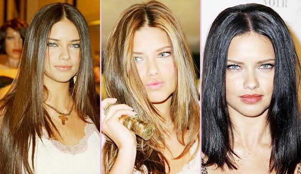 Adriana Lima's hair