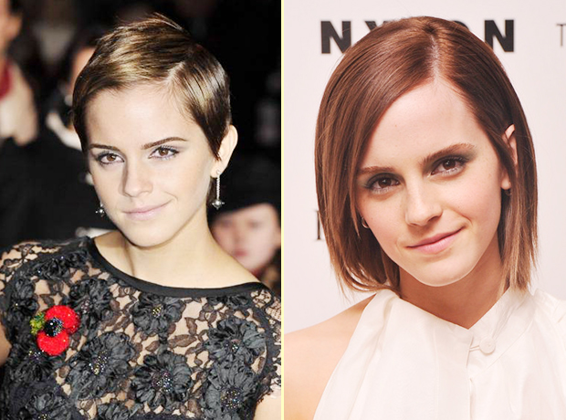 Emma watson hair growing out