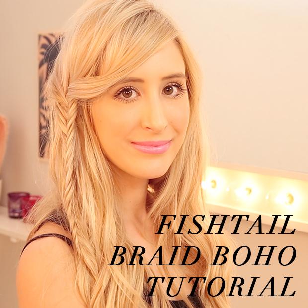Fishtail Braid Boho Hair Tutorial