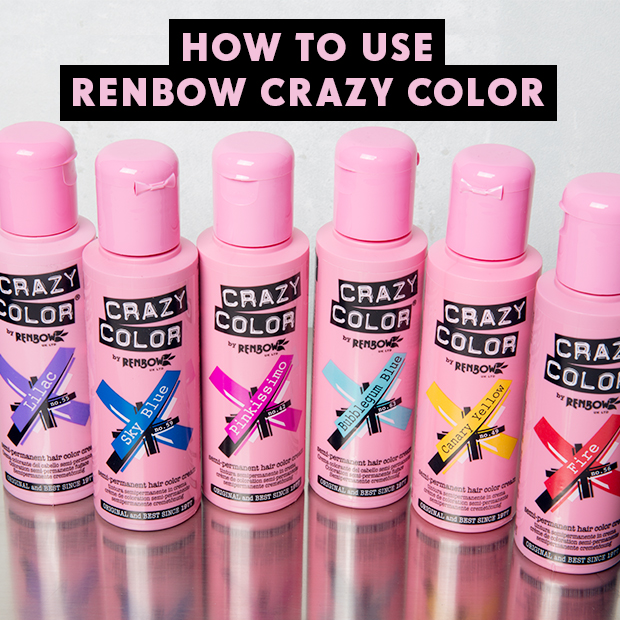 how to use renbow crazy color