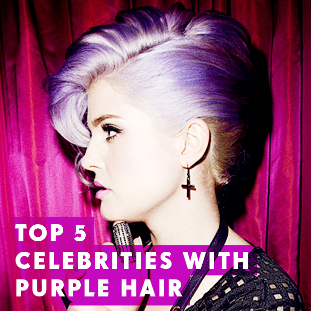 top 5 celebrities with purple hair