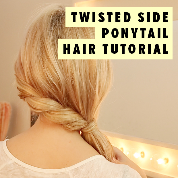 Twisted Side Ponytail Hair Tutorial