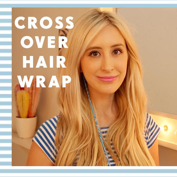 Hair Wrap Tutorial: Cross Over Wrap