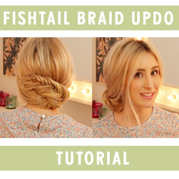 Fishtail Braid Updo Hair Tutorial Hair Extensions Blog Hair