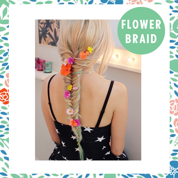 Little Mix Perrie Edwards Flower Braid Hair Tutorial