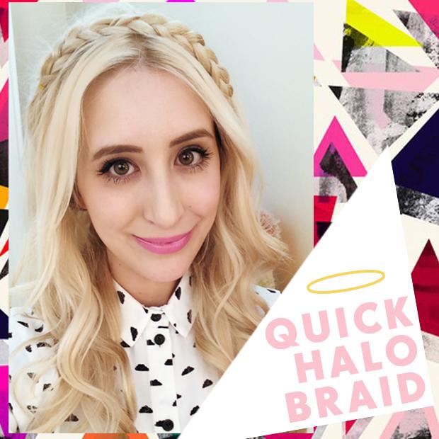 Cute Halo Braid Hair Tutorial Hair Extensions Blog Hair