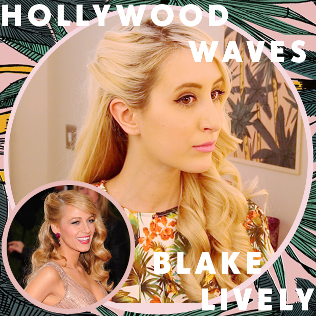 Blake Lively Hollywood Waves Hair Tutorial