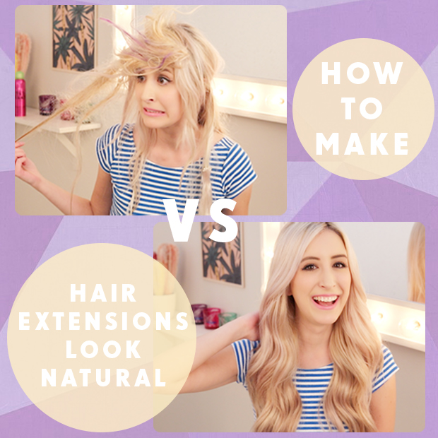 How can i make clip in hair extensions look natural best how to make hair extensions look natural pmusecretfo Choice Image