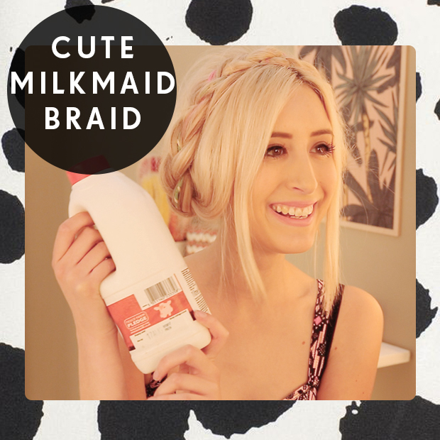 Cute Milkmaid Braid Hair Tutorial