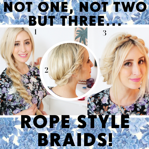 How To Rope Braid 3 Easy Ways Hair Extensions Blog Hair