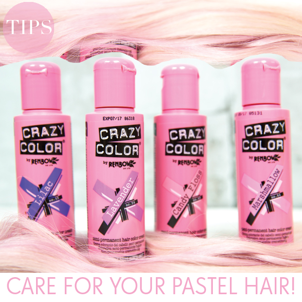 Tips for taking care of pastel hair