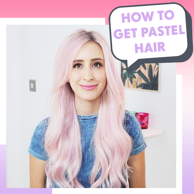 Best Way to Pastel Hair Extensions