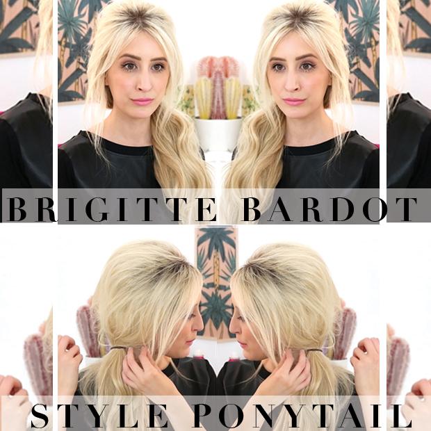 Brigitte Bardot Bouffant Ponytail
