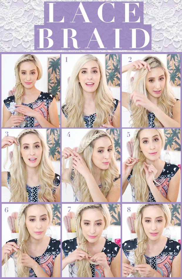 Pretty Lace Braid Hair Tutorial Hair Extensions Blog