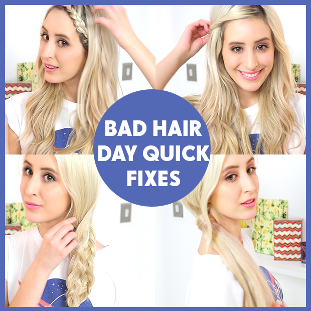 Bad hair day quick fixes hair extensions blog hair tutorials bad hair day quick fixes pmusecretfo Images