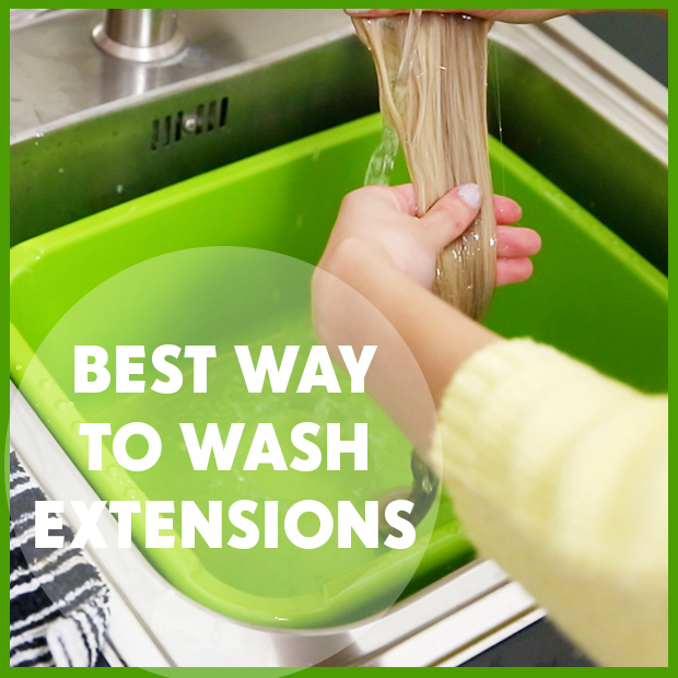 Best Way to Wash Hair Extensions