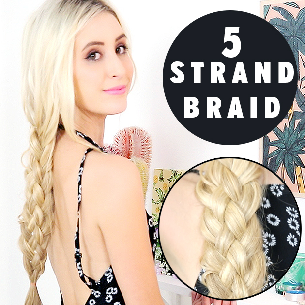 Five (5) Strand Braid Hair Tutorial