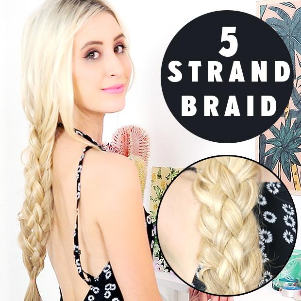 Five 5 strand braid hair tutorial hair extensions blog hair five 5 strand braid hair tutorial ccuart Gallery