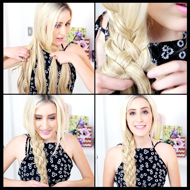 Five 5 Strand Braid Hair Tutorial Hair Extensions Blog Hair
