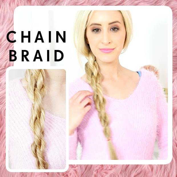 DKNY Chain Braid Hair Tutorial