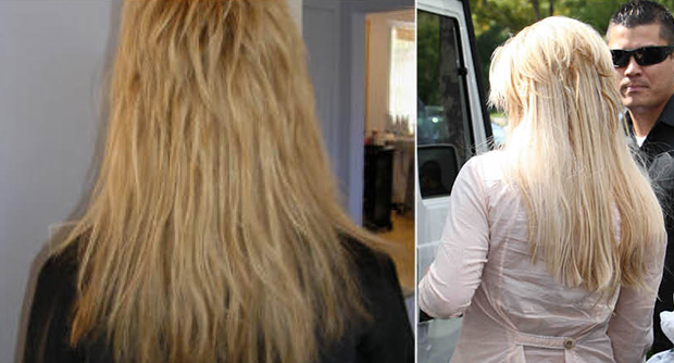 Bonded extensions on short hair