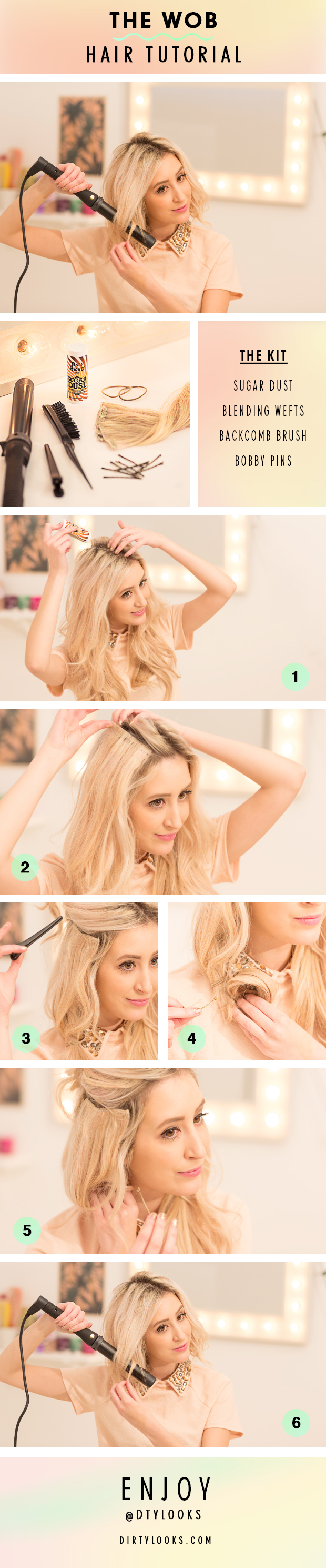 The wob hair extensions tutorial