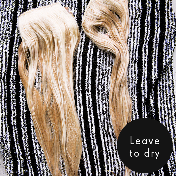 Leave To Dry Now Once Your Hair Extensions