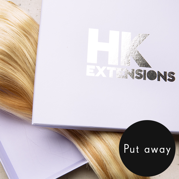 How to care for your clip in hair extensions hair extensions to store your extensions you can simply tuck them in to the lovely box they arrived to you in were not saying to give them a duvet and a cup of tea pmusecretfo Image collections